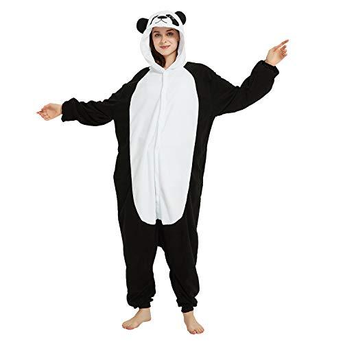 Onesie Women/Men Animal Panda Costume Cosplay Halloween Pajamas Cute...