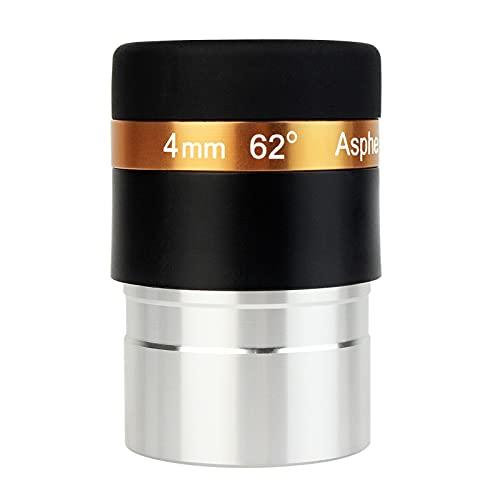 """Objektiv 4 mm Weitwinkel 62° asphärisches Okular komplett für 1, 25\""""31, 7 mm astronomische Teleskope - Black vollständig beschichtet"""