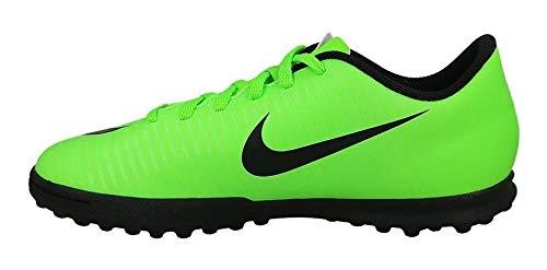 Nike Jr Mercurialx Vortex III TF, Botas de fútbol Unisex Adulto, Verde (Electric Green/Blk-Flsh LM-Wht), 38.5 EU