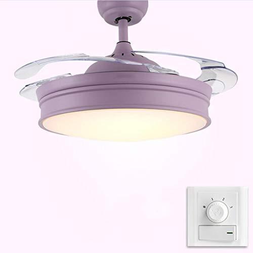 Eenvoudige bediening voor het huishouden Macarons onzichtbare plafondventilator, eetkamer, slaapkamer, woonkamer, plafond voor thuis. Eenvoudige, stille, afstandsbediening. 36 inches Wandsteuerung