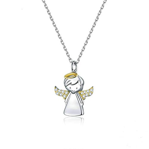 DOOLY Small angel short necklace is a female 925 pure water drop stone collar luxury brand jewelry new mode BSN186