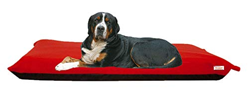 KosiPet Large Deluxe High Density Foam Mattress Waterproof Dog Bed Beds Red Fleece