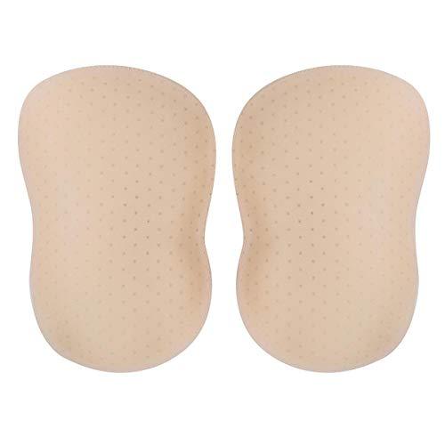 iiniim 1 Par Almohadillas de Cadera Culo Insertos Desmontable Push Up Invisible Rellenos de Nalgas para Bikini Hermosa Trasero Traje de Baño (NO INCLUYE CULOTTE) Beige A L