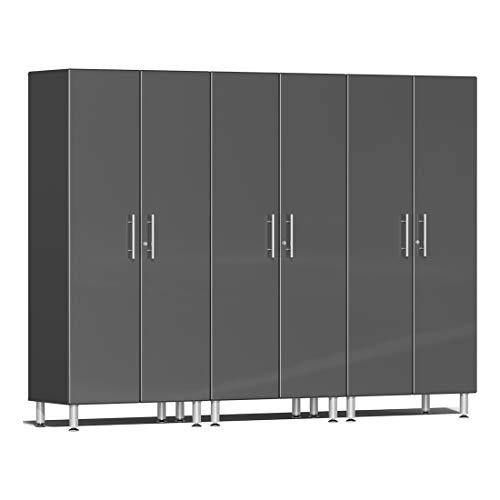 Ulti-MATE UG22630G 3-Piece Tall Garage Cabinet Kit in Graphite Grey Metallic