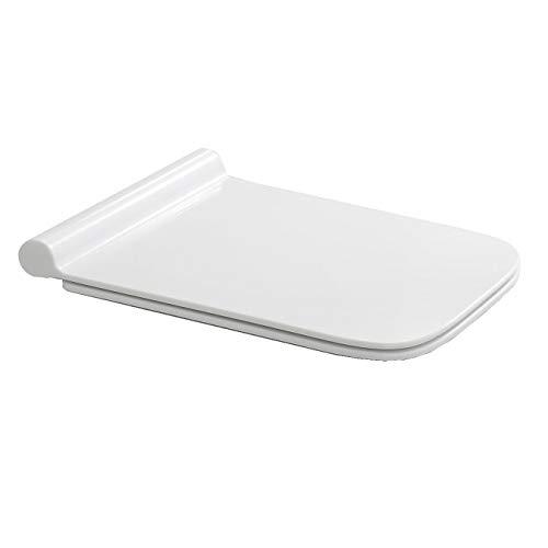 NEG Ersatz-Toilettendeckel (SlimLine) für Hänge-WC Uno19 (Duroplast) mit SoftClose und Quick-Release-Funktion