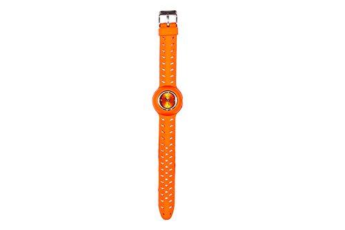 Orologio da polso. Cinghia larga di colore: arancione