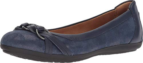 Comfortiva Maloree Midnight Navy Distressed Foil Suede/Glamorous Women's Flat Shoes