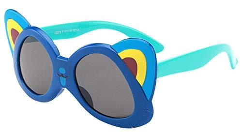 Binse Binse Kinder Sonnenbrillen Babybrille UV-Schutz Brille mit Cartoon-Form (Blau1)