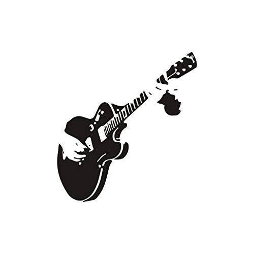 Deajing Stickers Pegatinas Pared Etiquetas Adhesivas de la Pared de Vinilo Extraíble Decal DIY Guitarra Música Negro Creativo Pegatinas de Pared Decoración Vinilos Para el Hogar Etiqueta