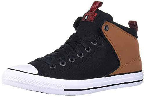 Converse Chuck Taylor All Star Street Suede Trim High Top Sneaker, Warm Tan/Black/White, 8 M US