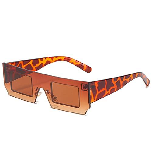 Gafas De Sol Hombre Mujeres Ciclismo Gafas De Sol Graduadas De Moda para Mujer, Gafas De Sol Cuadradas Vintage para Hombre, Gafas Retro-Brown_