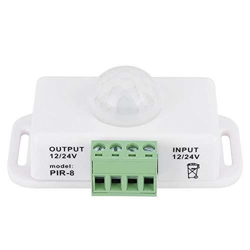 GAESHOW LED PIR Interruptor de inducción del Cuerpo Humano Controlador de Sensor de Movimiento 12V-24V Controlador de Tira de luz componentes electrónicos