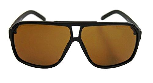 amashades Vintage Classics Retro Sonnenbrille für Herren 80er Jahre Old School Modell Flat Top Rahmen F9 (Kaffee matt)