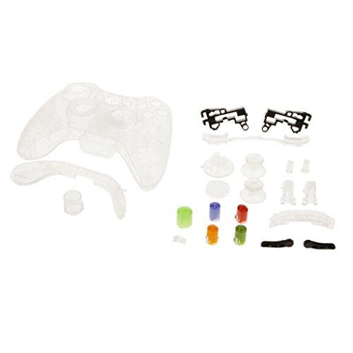 Caso de Sustitución Botón de Cáscara Kit para Xbox 360 Controlador Transparente
