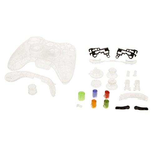 Generic Full Housing Button Case Cover Hülle Mod Kit Ersatz für Xbox 360 Controller - Transparent