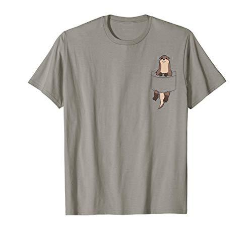Otter in der Tasche Seeotter Liebe Otter T-Shirt