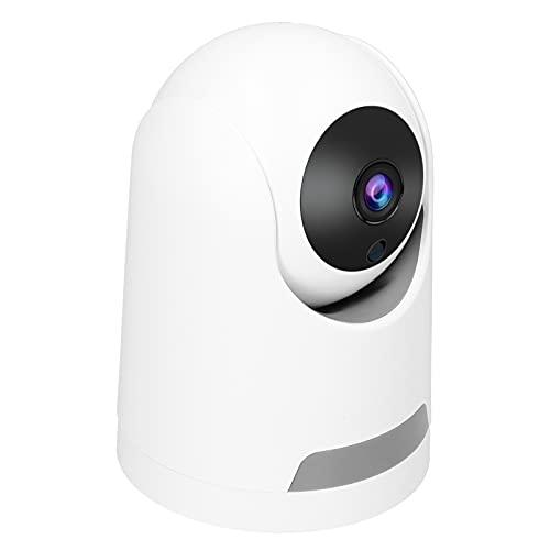 Casa Cámara digital Izquierda y derecha 355 ° Vertical 110 ° Ángulo PTZ Cámara de seguridad interior Vigilabebés con cámara y audio Admite alarma inteligente, detección de movimiento(Enchufe de la UE)