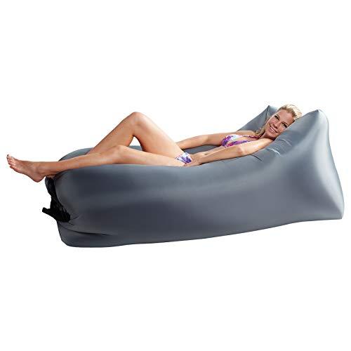 Lounger To Go Air 2.0 Liegesack Sitzsack Luft Sofa Lounge Luftcouch Sessel aufblasbar Grau
