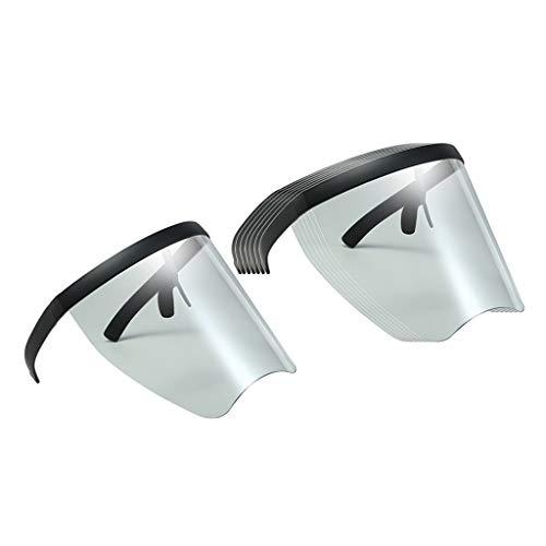 Colcolo 8PCS Gafas de Sol con Lentes Transparentes de Cara Completa Gafas con Visera Plana
