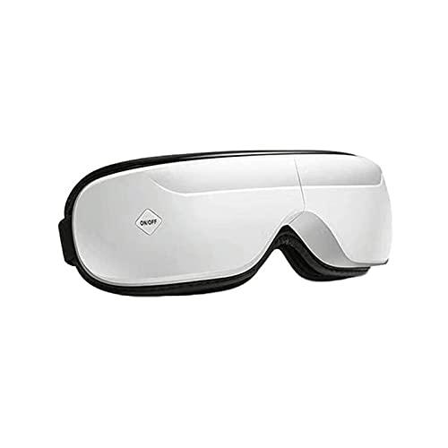 KSDCDF Masajeador de ojos, música Bluetooth, masajeador de ojos eléctrico con calor, vibración, presión de aire para aliviar la tensión ocular, masajeador LED, mejora el sueño