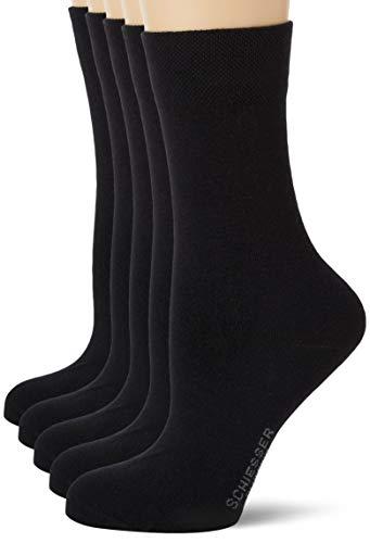 Schiesser Damen Multipack 5 Pack Damensocken Strümpfe Socken, schwarz, 39/42 (5er Pack)