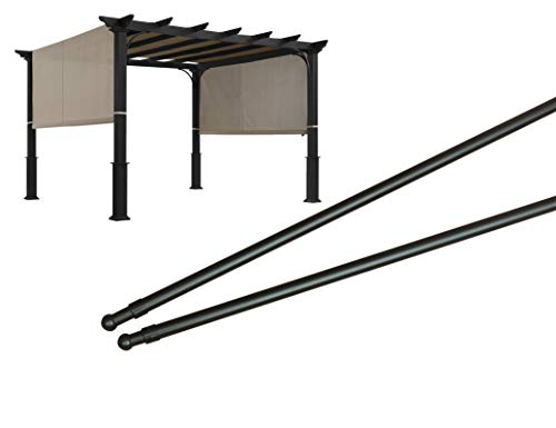 ALISUN Length Adjustable Weight Rods/Pull Tubes for Pergola Canopy (2 Rods Included, from 77 inches to 146 inches)