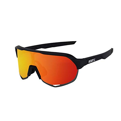 SAHWIN Gafas De Sol Polarizadas para Ciclismo con 3 Lentes Intercambiables UV400 Y Montura De, Gafas para MTB Bicicleta Montaña 100% De Protección UV,Style3