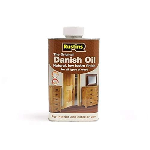 Rustins (DANO1000) Dänisches Öl - Schutz des Innen - und Außen Holzes - Farblos - 1 Liter