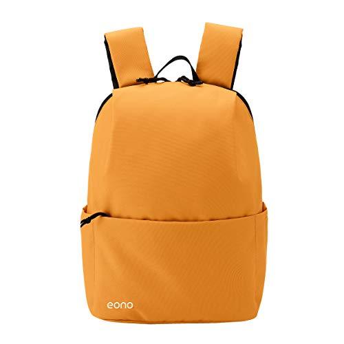 Eono Essentials, zaino ultraleggero unisex, stile casual, capacità 10 L, impermeabile, multiuso per trekking, attività all'aperto, viaggi (Arancione)
