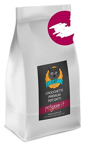 Petgnam Sterilized 15 kg Maiale Crocchette Croccantini per Gatti Sterilizzati Made in Italy Naturali delle Dolomiti