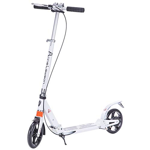 Buy Discount Two-Wheeled Aluminum Alloy Two-Wheeled Folding Handbrake Two-Wheeled City Scooter Adult...