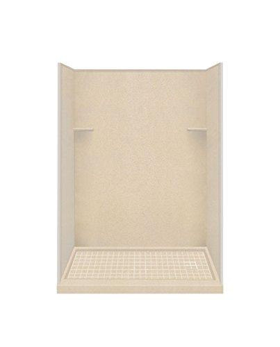 Sale!! Transolid RKWF6027R-67 Right-Hand Alcove Shower Kit, 32″ x 60″ x 75″, Matrix Khaki