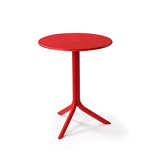 Unbekannt Nardi Step Tisch aus Glasfaser, Kunstharz, 61 x 61 cm, Rot