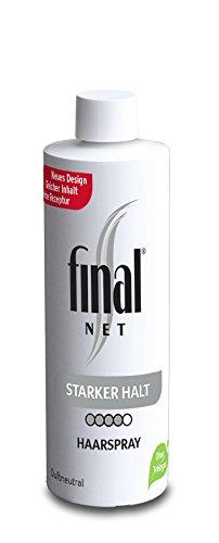 Final Net Haarspray Starker Halt Nachfüller - Dauerhaft Starker Halt - Duftneutral, 1er Pack (1x125ml)