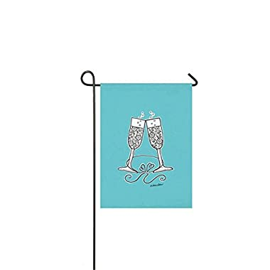 Evergreen Suede Wedding Cheer Garden Flag, 12.5 x 18 inches