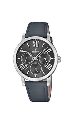 Festina Damen Analog Quarz Smart Watch Armbanduhr mit Leder Armband F20415/4