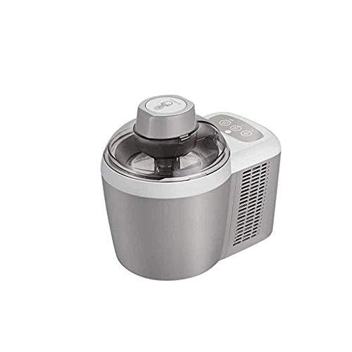 SBBSNH Cream Maker, ciotola compatta for servire e servire con anima in acciaio inossidabile for congelatore crea un servizio morbido, yogurt gelato, gelato (Color : Gray)