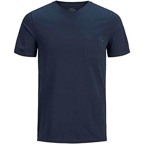Jack & Jones Jjepocket Tee Ss O-neck Noos, Maglietta a Maniche Corte Uomo, Blu (Navy Blazer Detail: Slim Fit), M