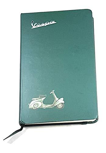 Vespa Scooter notitieboek groen 14 x 9 cm – gelinieerd en ivoorkleurig papier