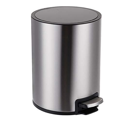 Poubelle- Poubelle, poubelle à pédale pour cuisine, poubelle en acier inoxydable, poubelles de salle de bains à fermeture amortie avec couvercles et seau intérieur amovible
