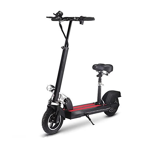 YIZHIYA Patinete Eléctrico, 500W E-Scooter Plegable para Adultos con Asiento, Freno de...