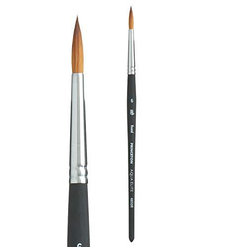 Princeton Aqua Elite, Series 4850, Synthetic Kolinsky Watercolor Paint Brush,Round, 6