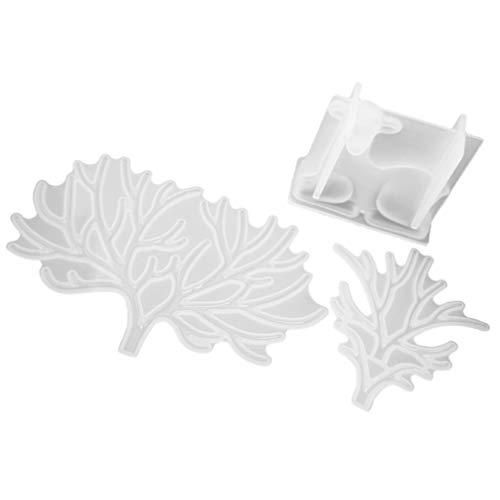 Exceart 3 Stuks Siliconen Gietvormen Rendier Gewei Epoxy Mal Voor Diy Cadeau Zeep Kaars Sieraden Ketting Hanger Maken