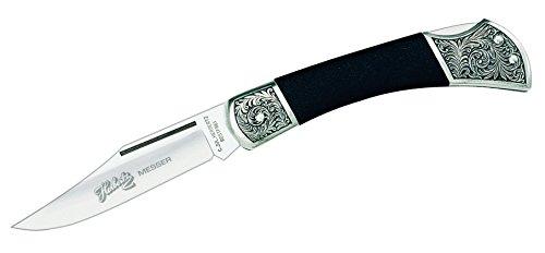 Herbertz Couteau de Poche, Serie 2062, ferrure décorée, Elastomer