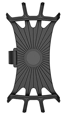 Soporte de teléfono de Bicicleta de Silicona para iPhone 11/6/7/8 / X / XR para Xiaomi 4.0 -6.1 Pulgadas Teléfono Celular Banda de Montaje Bicicleta GPS Clip Blak