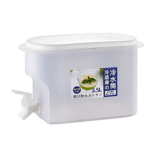 Snow Island Tetera de frutas de 3,5 l con grifo hervidor de agua para el hogar, botella de limonada de verano, cubo de agua de hielo de gran capacidad, uso diario y despenseror de bebidas para fiestas
