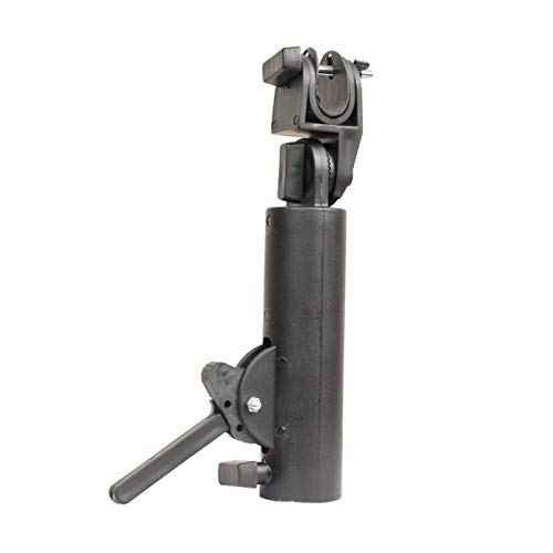 Staright Conector de Soporte de Paraguas Carrito de Golf Accesorios de Soporte de Paraguas Ángulo de Bloqueo Doble Ajustable Universal para Carrito de Golf Cochecito de bebé Bicicleta Silla de Ruedas