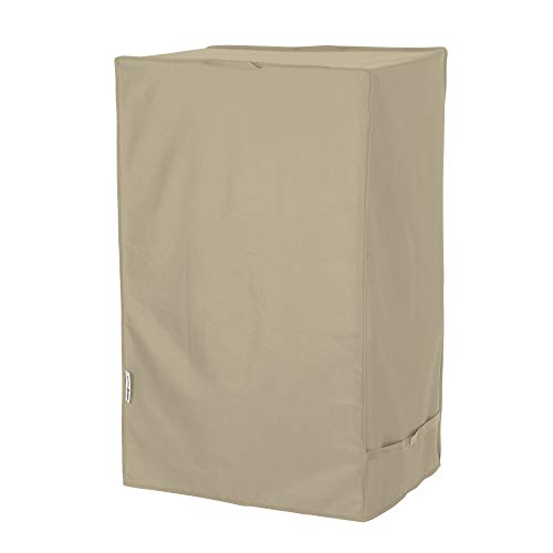 Unicook Electric Smoker Cover, Vertical BBQ Smoker Cover, Heavy Duty Waterproof Barbecue Grill Cover for Masterbuilt Dyna-Glo 30 Inch Electric Smokers and More, 20''W x 17''D x 31''H, Desert Sand