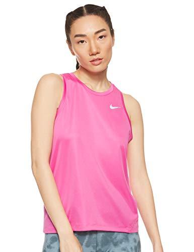 Nike Dry Miler Camiseta sin Mangas para Mujer, Rosa, Large