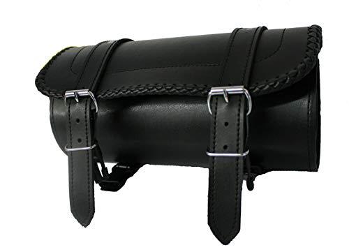 Sacoche à Outils/pour Moto - Cuir - détail tressé